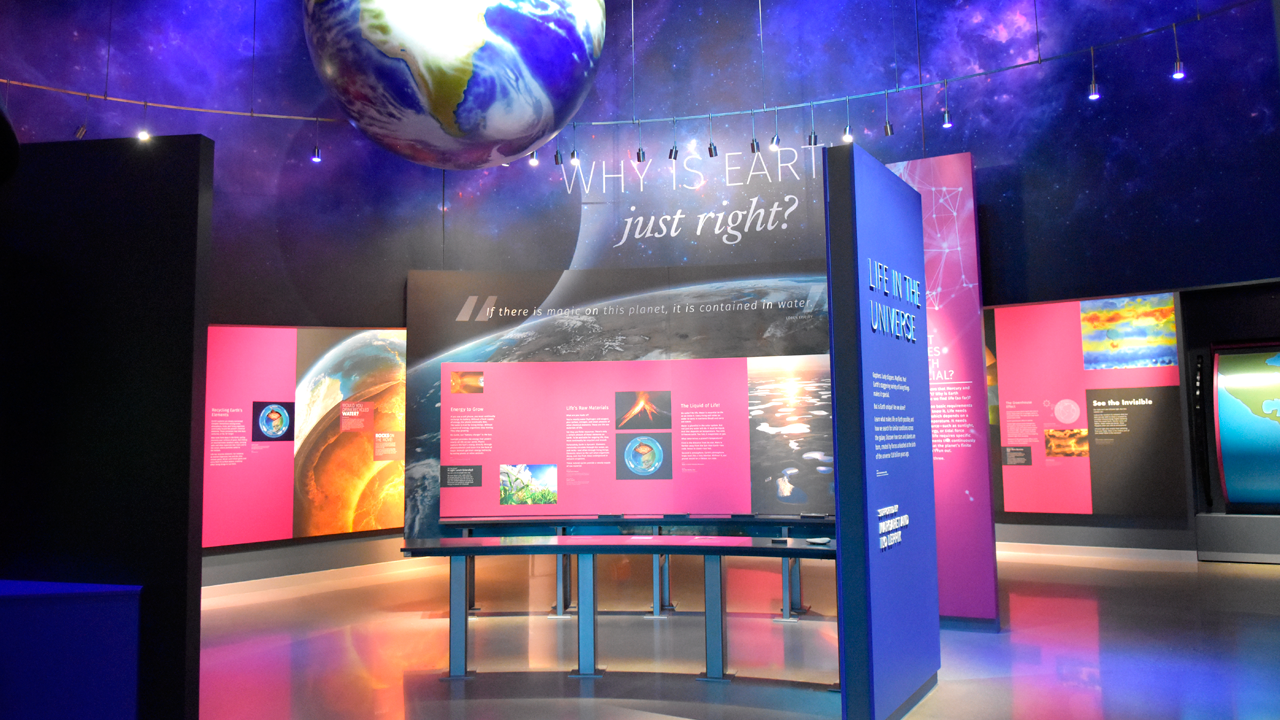 Planet display at Bell Museum