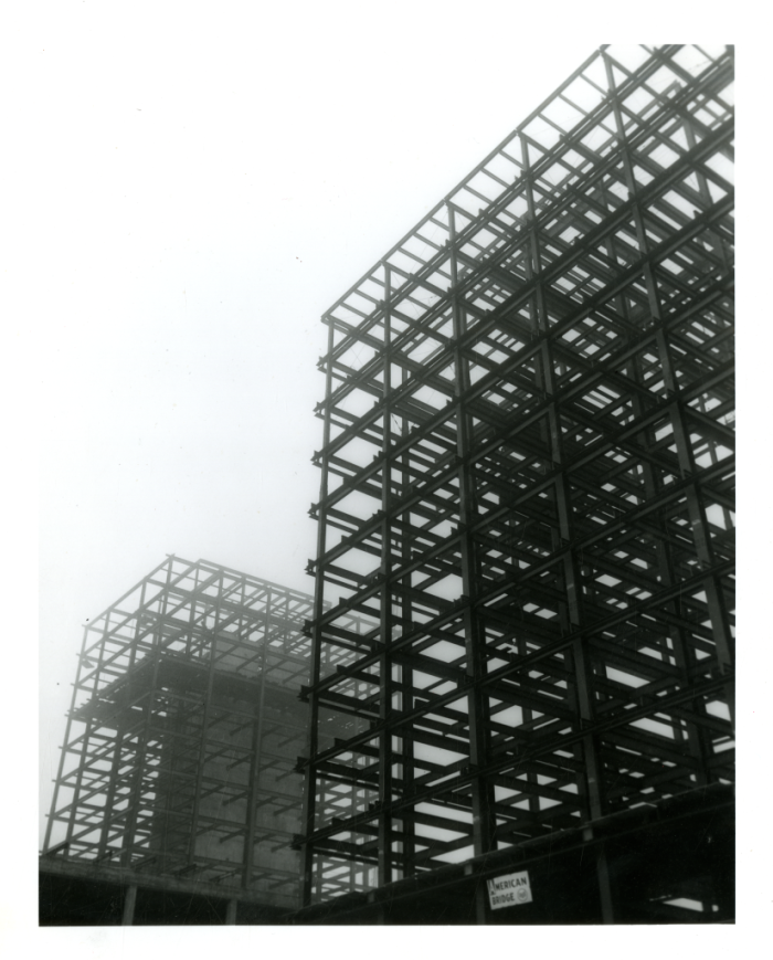 framework in place for what became the Social Sciences Tower and Business Administration Tower (now called Heller Hall)