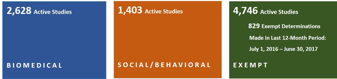number of active studies - contact hrpp@umn.edu for information