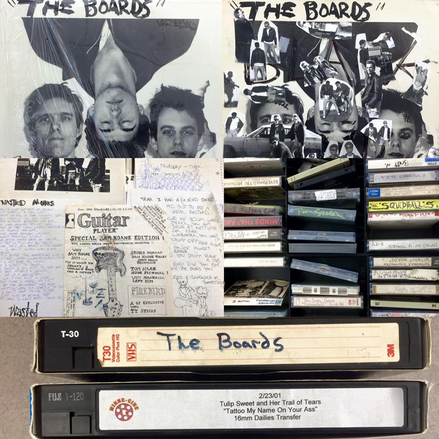 Tapes and posters from Minnesota Underground Music Archives