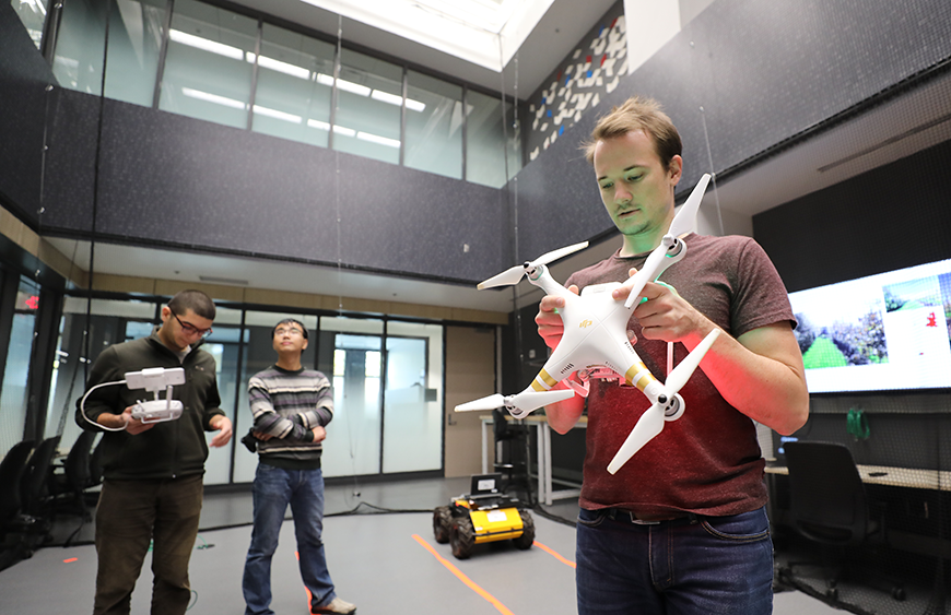 Lab space for drone flight