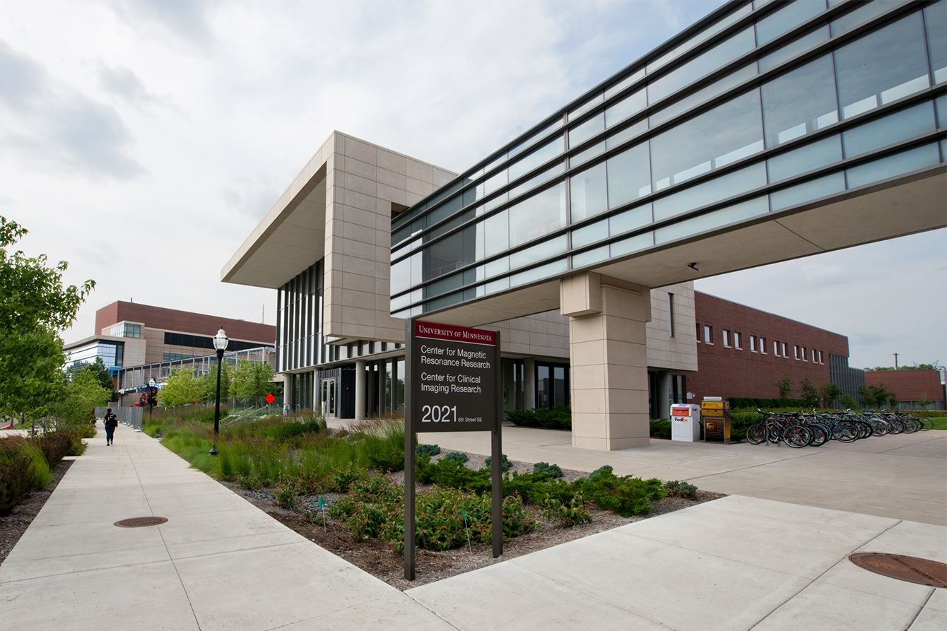 Exterior of the CMRR building at the U of M