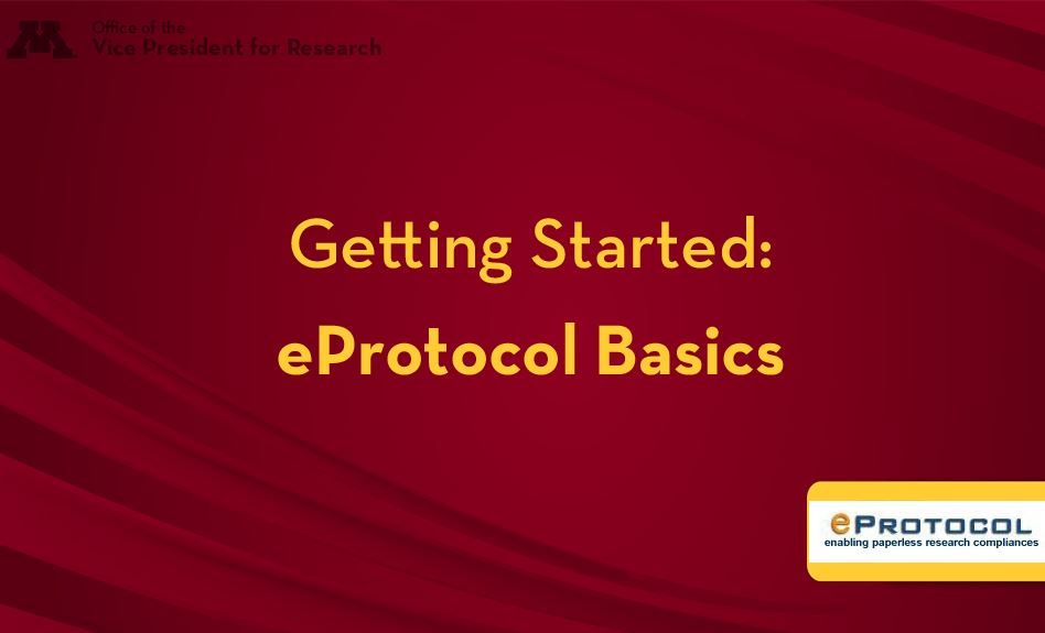 Getting Started: eProtocol Basics video screen