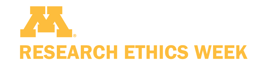 UMN logo above text: research ethics week