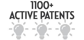 900+ Active Patents