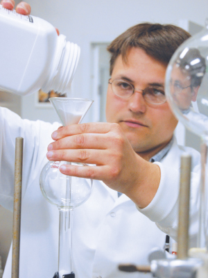 Igor Kolomitsyn in his lab at NRRI
