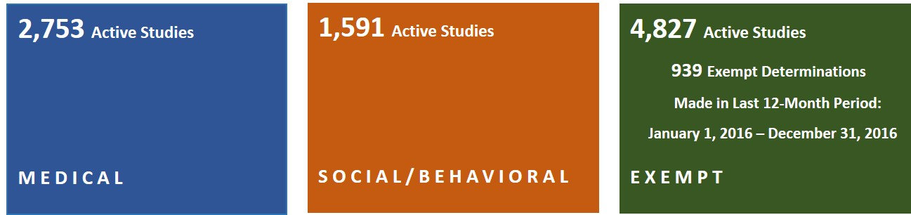 number of active studies - contact hrpp@umn.edu for information