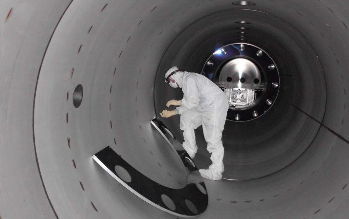LIGO technician at work