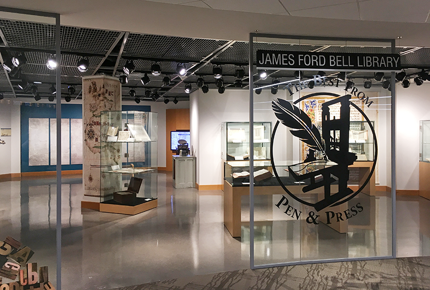 Exhibit from James Ford Bell Library