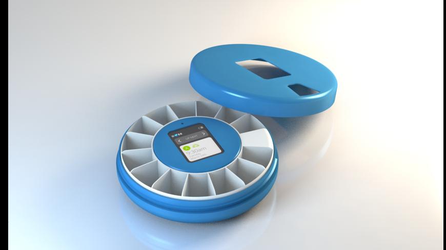 Smart pillbox, open.