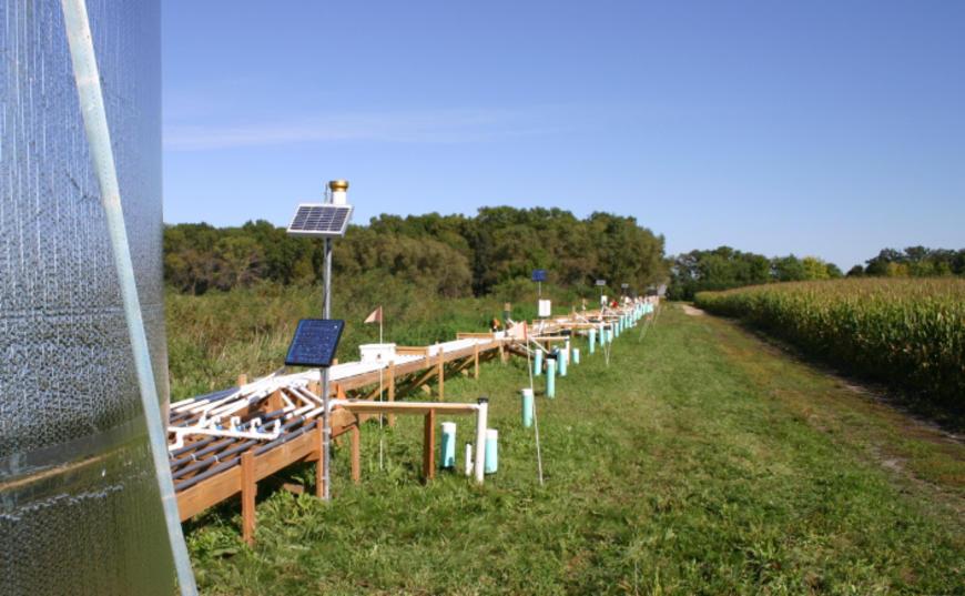 bioreactor in a field