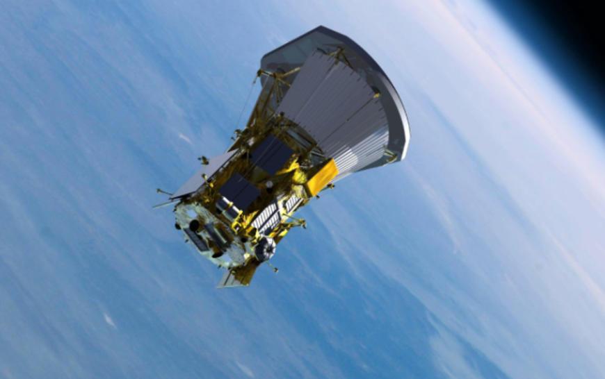 Solar probe in space