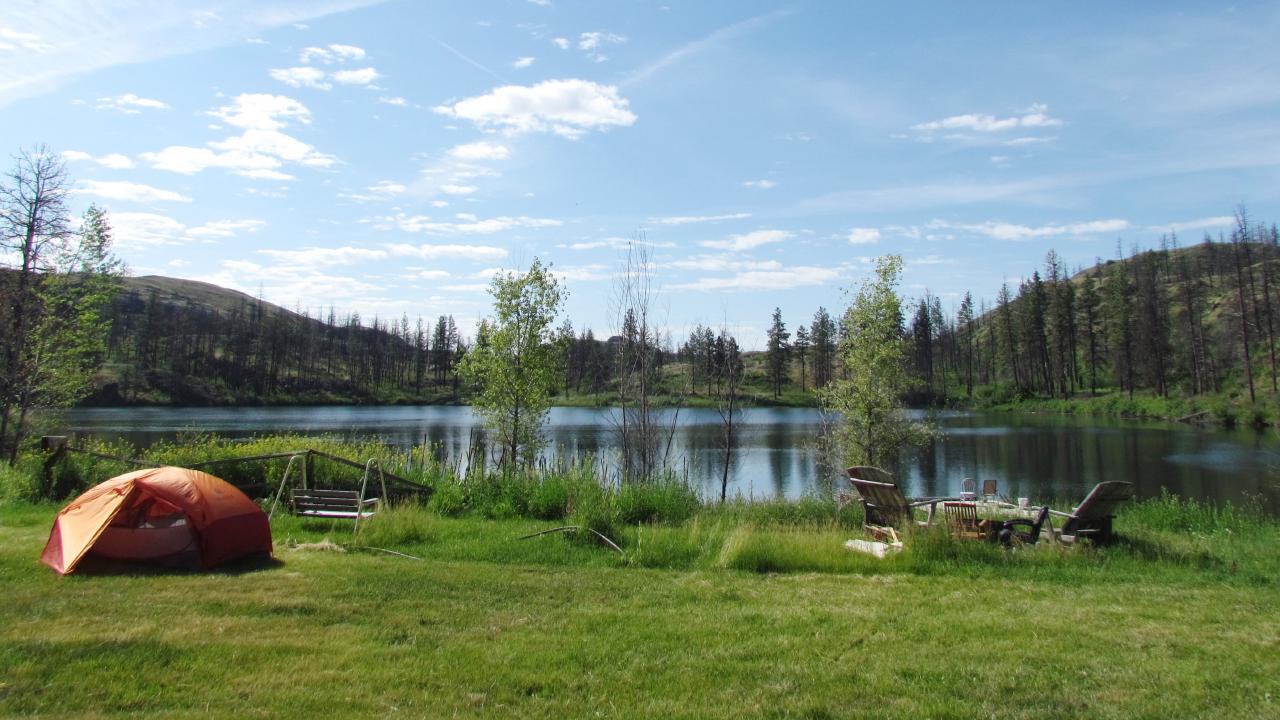 A lake in eastern Washington State.