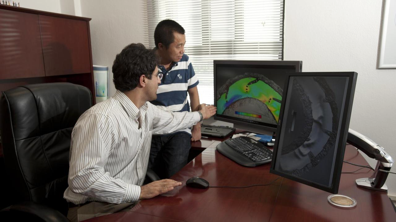 Researchers using software