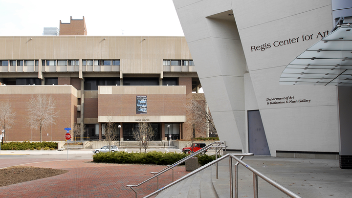 Entrance of the Regis Center for Arts