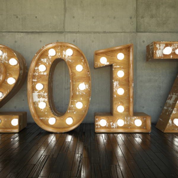 Marquee letters that spell 2017