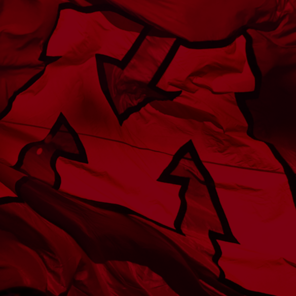 U of M flag with dark red filter