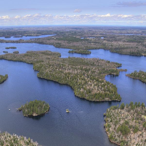Northeast Minnesota lakes and trees