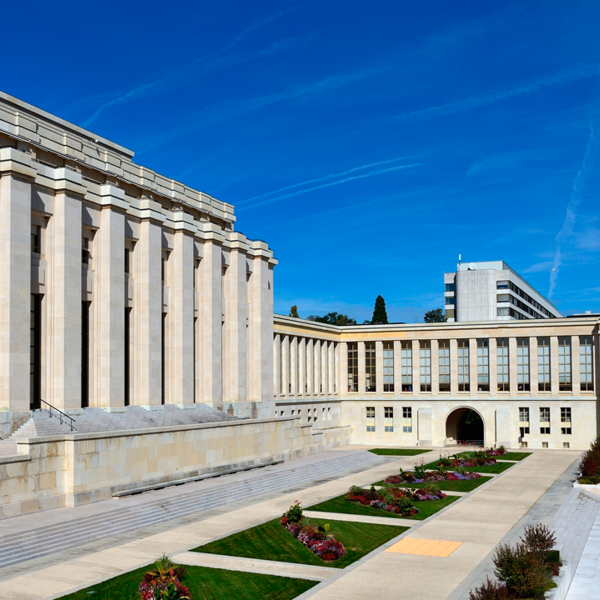 Palace of Nations in Geneva, Switzerland