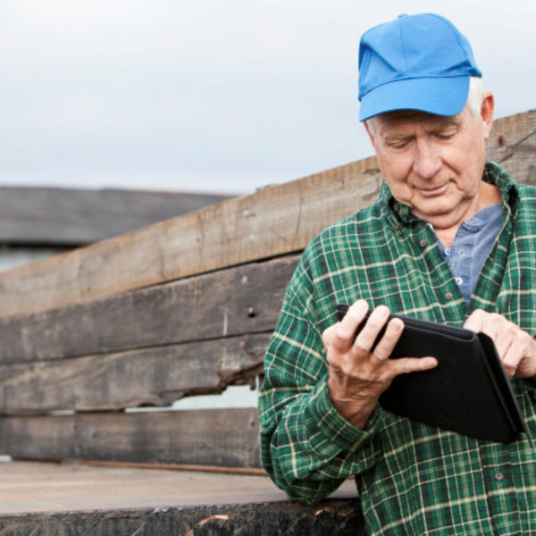 farmer with a tablet