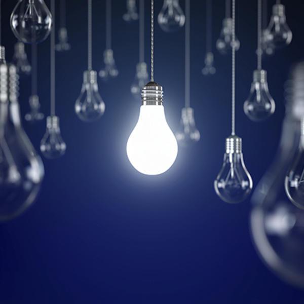light bulb art