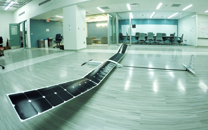 Solar powered flying drone