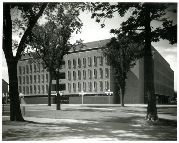 Exterior of Wilson Library from mid-20th century
